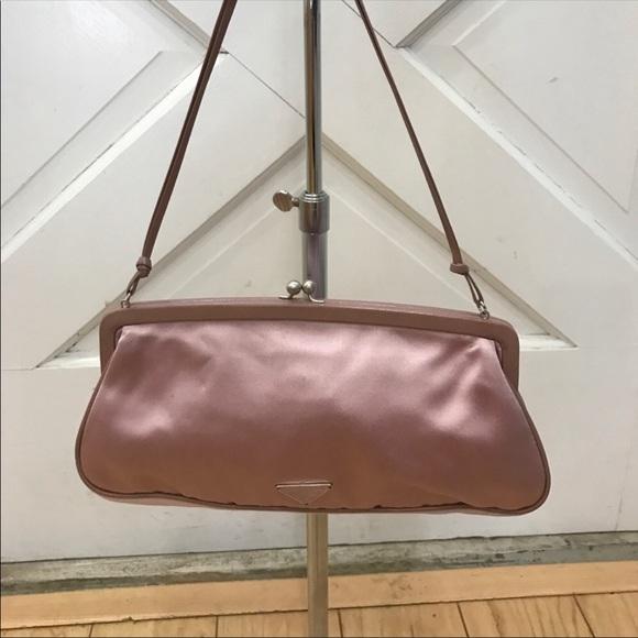 Prada Bags   Pink Satin Bag   Poshmark 45a5db1572